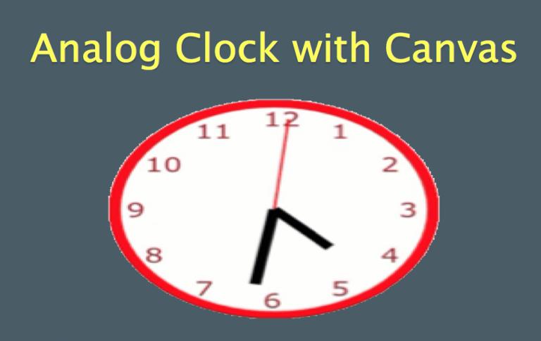 Аналоговые часы с HTML5 Canvas и JavaScript »WebNots