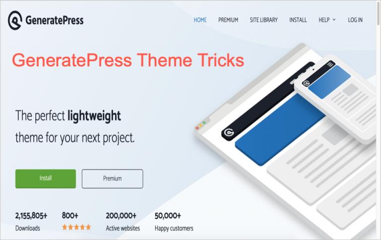 7 хитростей для настройки темы GeneratePress »WebNots