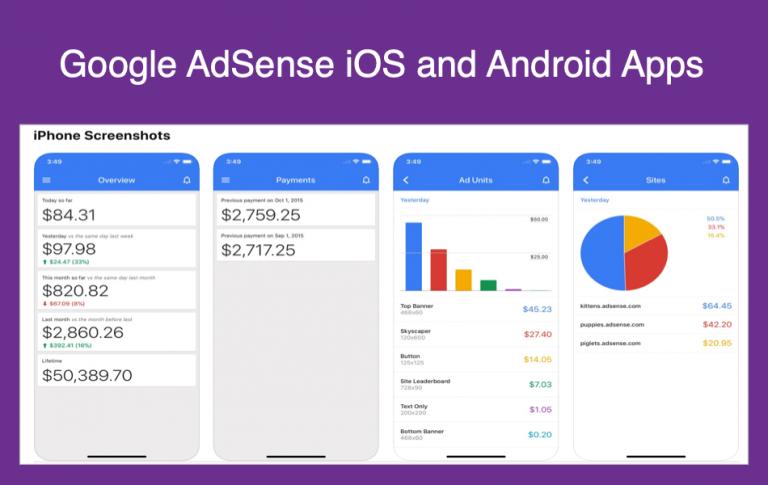Обзор приложений Google AdSense для iOS и Android »WebNots