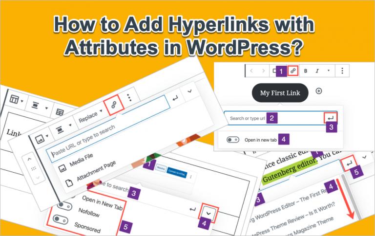 Как добавить гиперссылки в WordPress с атрибутами?  »WebNots