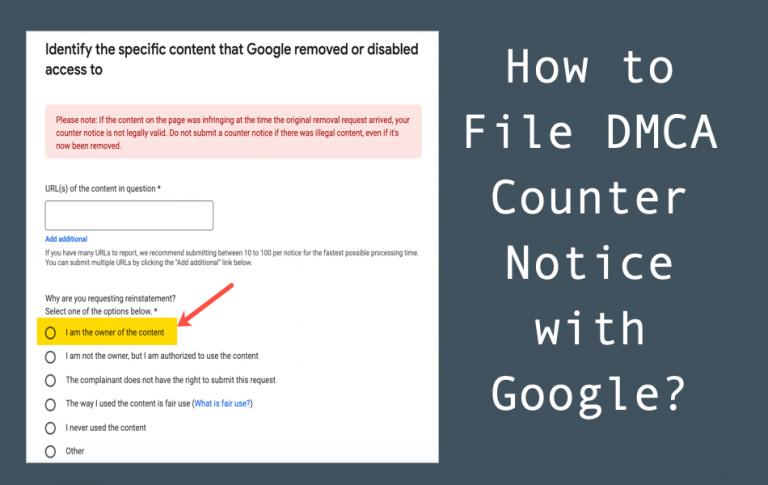 Как подать встречное уведомление DMCA в Google?  »WebNots
