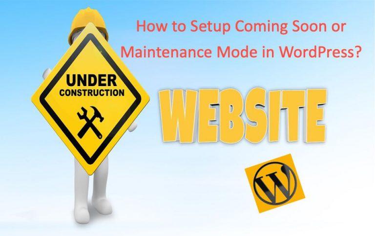 Как настроить скоро или режим обслуживания в WordPress?  »WebNots