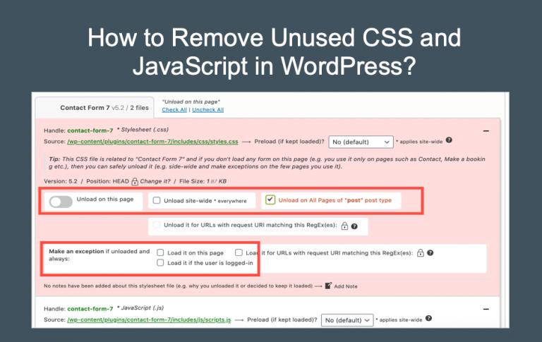 Как удалить неиспользуемые CSS и JavaScript в WordPress