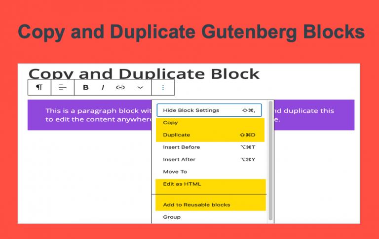 6 способов копирования и дублирования блоков Гутенберга в WordPress »WebNots