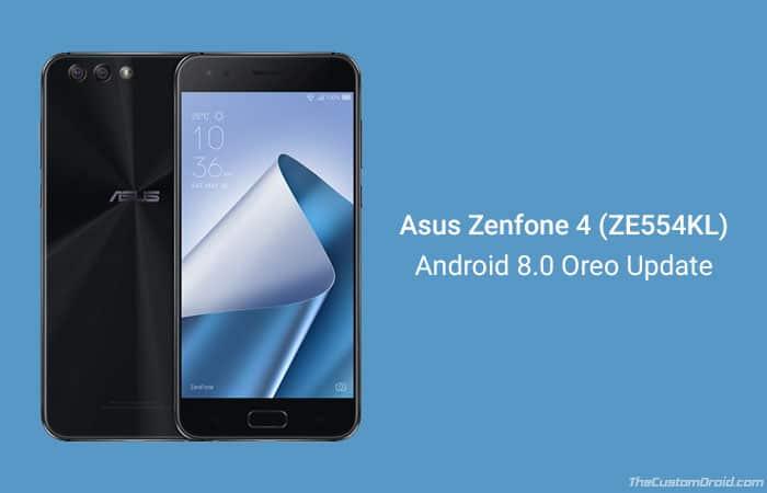 Загрузите и установите Android 8.0 Oreo на Asus Zenfone 4 (ZE554KL)