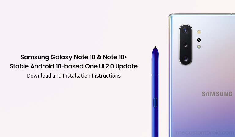 Установите обновление Galaxy Note 10/10 + Android 10 (One UI 2.0)