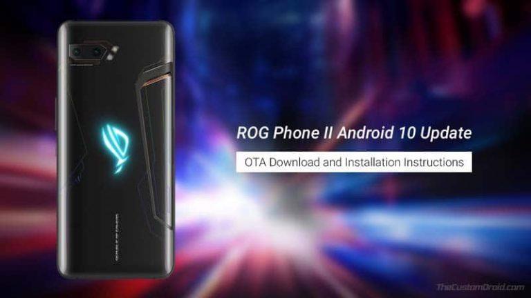 Загрузите обновление для системы безопасности Asus ROG Phone 2 за сентябрь 2020 г. (V17.0240.2009.49)