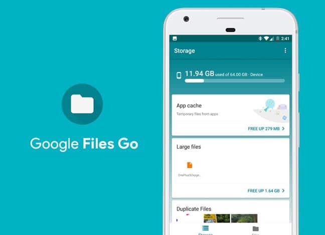Загрузите Google Files Go – Умный файловый менеджер [APK]