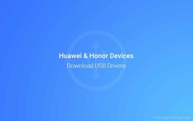 Загрузите последние версии USB-драйверов Huawei для устройств Huawei / Honor