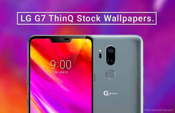 Скачать LG G7 ThinQ Stock Wallpapers