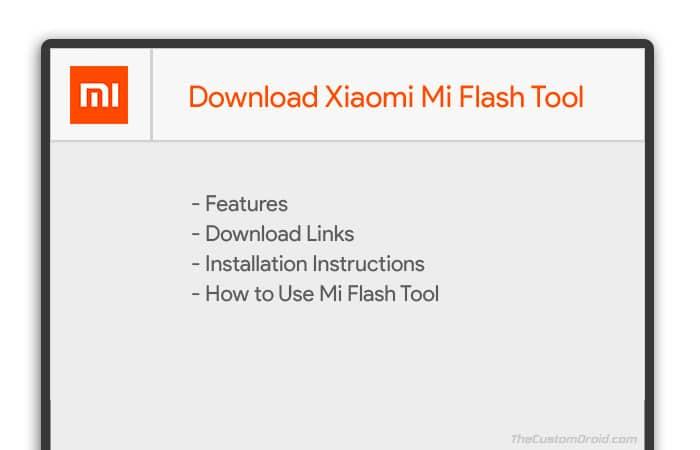 Скачать Xiaomi Mi Flash Tool для Windows (последняя версия)