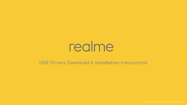 Загрузите драйверы Realme USB для Windows и руководство по установке