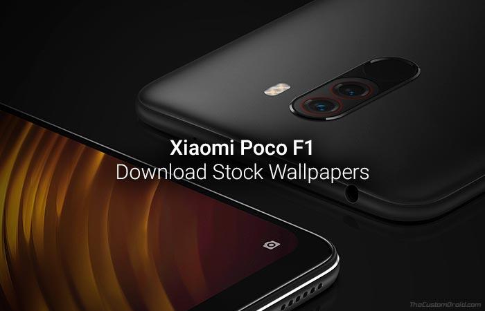 Скачать обои Xiaomi Poco F1 Stock (разрешение FHD +)