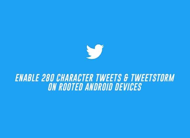 Включение 280-символьных твитов и функции Tweetstorm на корневых устройствах
