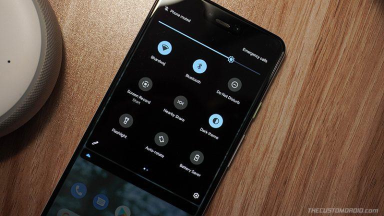 Вернитесь к быстрым настройкам с 3 строками / 9 плитками в Android 11 [Root]