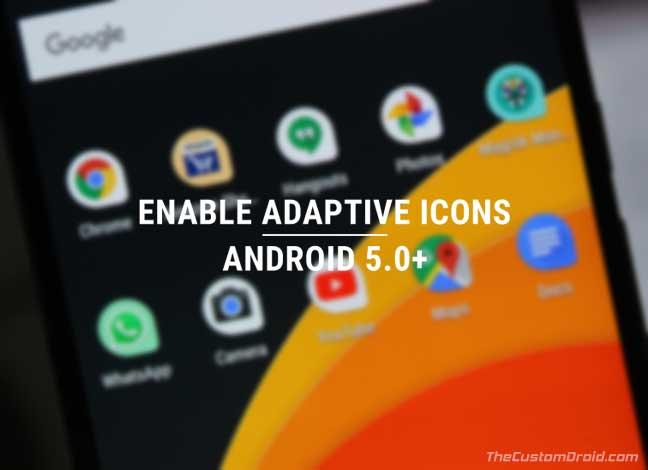 Включение адаптивных значков на Android 5.0 или более поздней версии