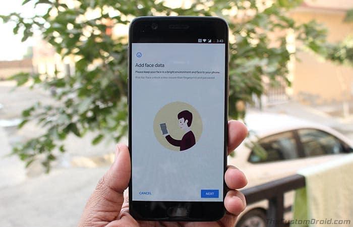 Как включить разблокировку лица на OnePlus 5, OnePlus 3 и 3T