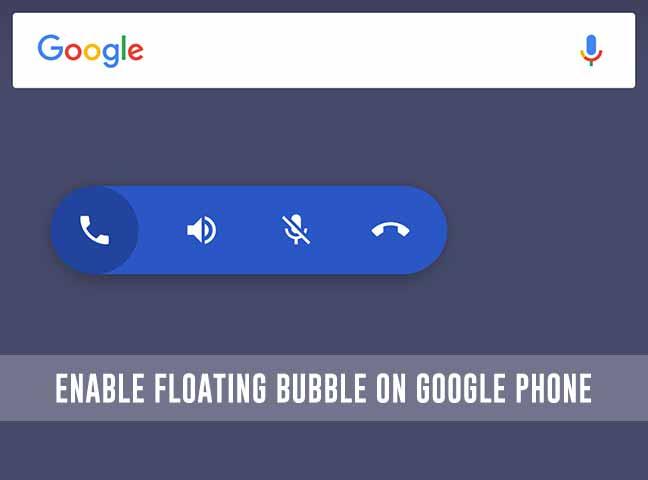 Как включить плавающий пузырь в телефоне Google