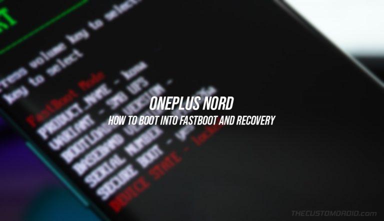 Войдите в режимы быстрой загрузки и восстановления на OnePlus Nord [3 Different Ways]
