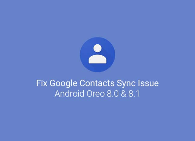 Как исправить проблему синхронизации контактов на Android Oreo