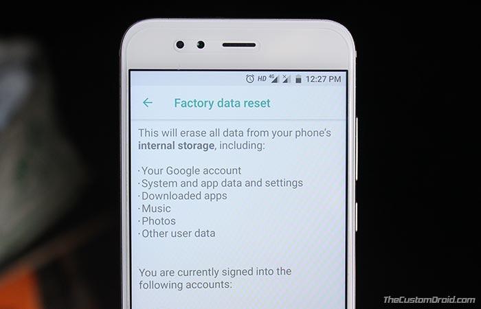 Как выполнить полный сброс Xiaomi Mi A1 до заводских настроек (2 метода)