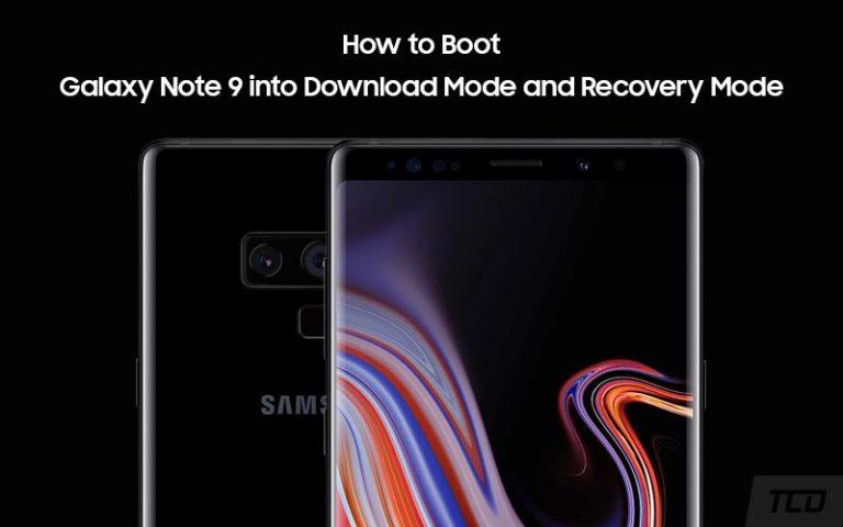 Как загрузить Galaxy Note 9 в режим загрузки и режим восстановления