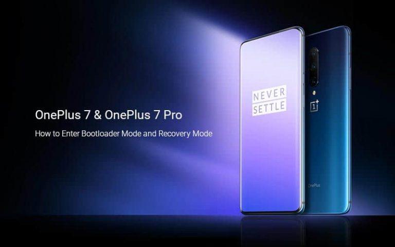 Загрузите OnePlus 7 / OnePlus 7 Pro в режим загрузчика и восстановления