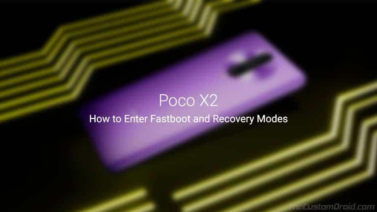 Загрузите Poco X2 в режимах Fastboot и Recovery (Руководство)