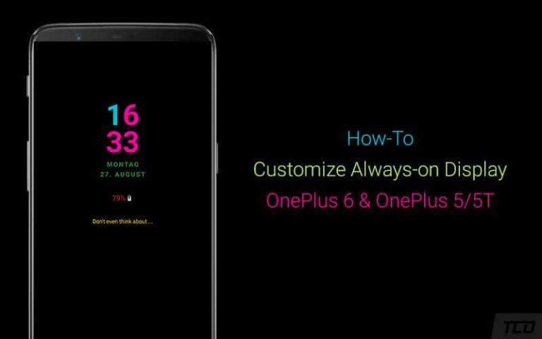 Как настроить постоянно включенный дисплей на OnePlus 6 / 6T и OnePlus 5 / 5T
