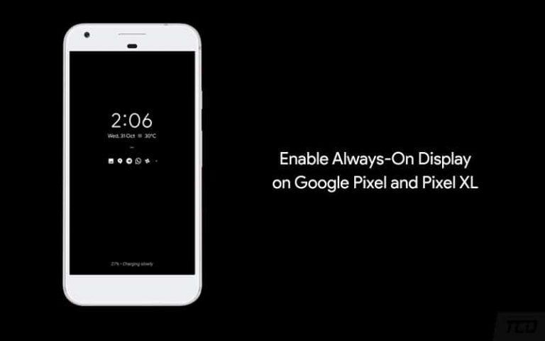 Включить Always-On Display в Google Pixel и Pixel XL