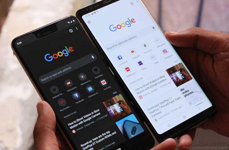 Включить темный режим Google Chrome на Android [Without Root]