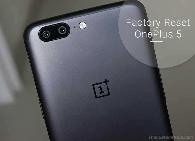 Как восстановить заводские настройки OnePlus 5