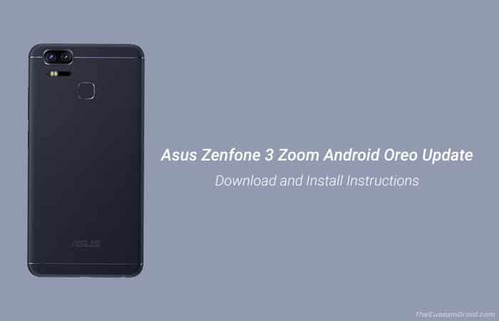Установите обновление Asus Zenfone 3 Zoom Android Oreo (ZE553KL)