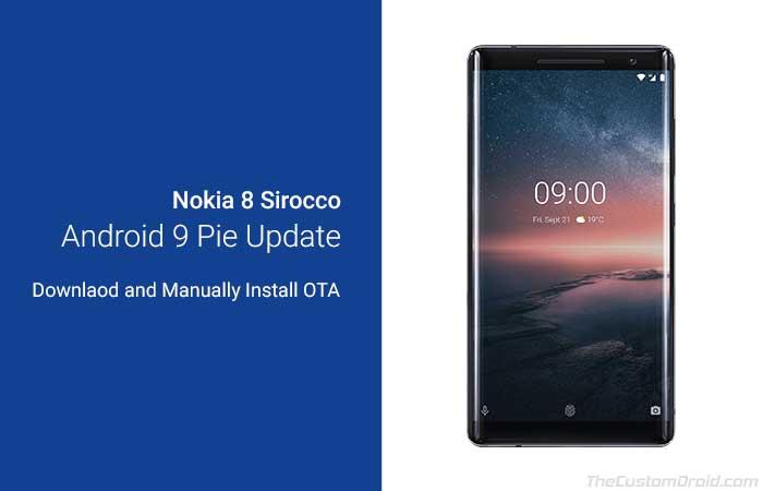 Загрузите и установите Nokia 8 Sirocco Android Pie Update (OTA)