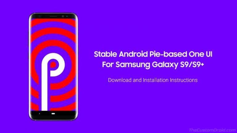 Как установить обновление Samsung Galaxy S9 / S9 + Android Pie (One UI)