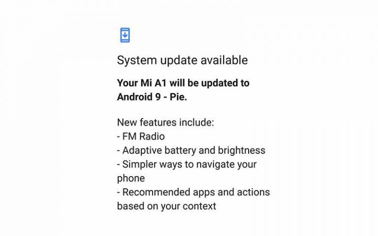 Загрузить обновление Xioami Mi A1 Android Pie за июль 2020 г. (V10.0.23.0)