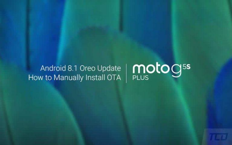 Как вручную установить Moto G5S Plus Android 8.1 Oreo OTA Update