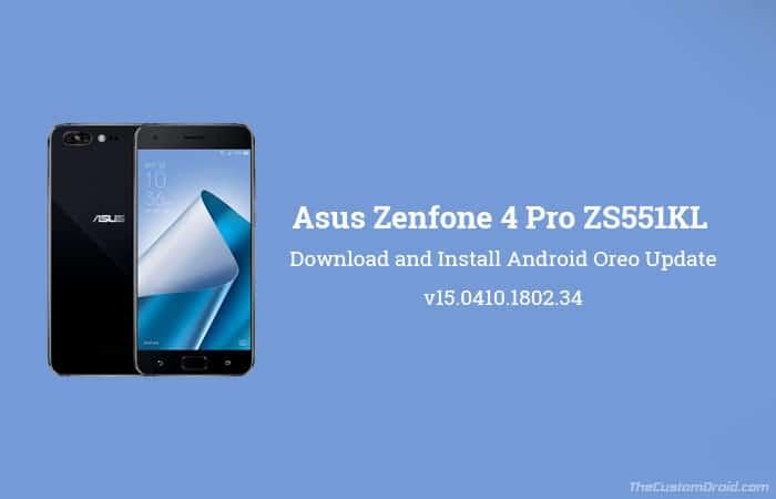 Как установить обновление Asus Zenfone 4 Pro Android Oreo (ZS551KL)