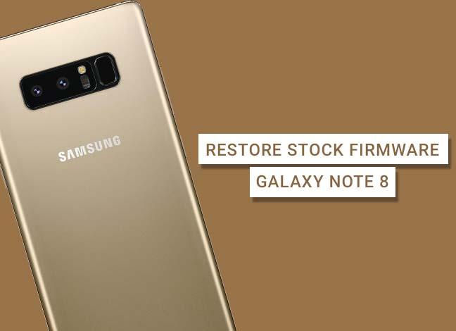 Загрузите и установите стандартную прошивку Samsung Galaxy Note 8