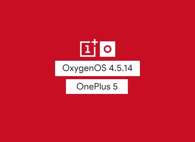Установите обновление OxygenOS 4.5.14 на OnePlus 5