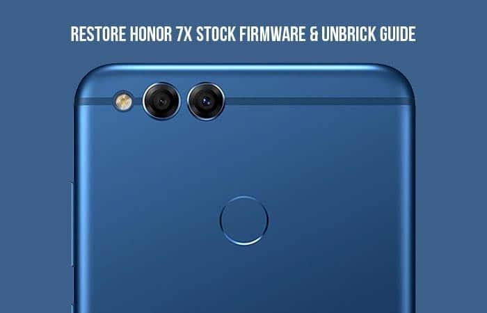 Как восстановить стоковую прошивку Honor 7X [Unbrick Guide]