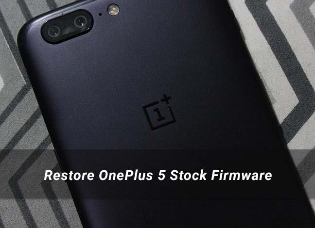 Как восстановить стоковую прошивку OnePlus 5
