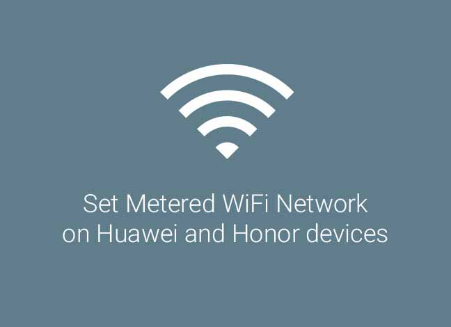 Настройка сети Wi-Fi со счетчиком на устройствах Huawei