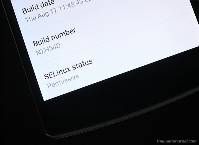 Установите SELinux Permissive на Android с помощью переключателя SELinux