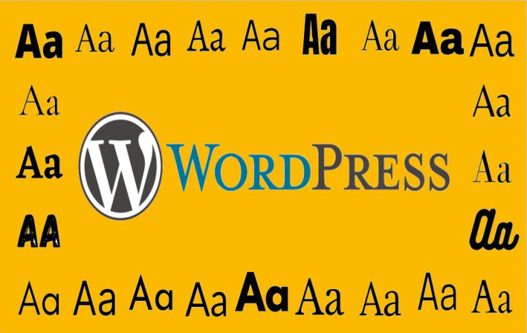 Как изменить шрифт на сайте WordPress?