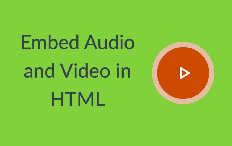 Как встроить аудио и видео с помощью HTML5?