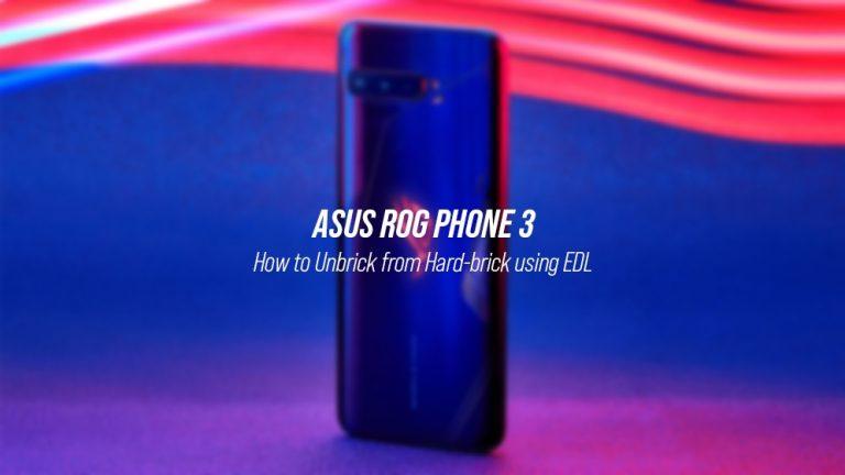 Unbrick ROG Phone 3 от Hard-Bricked State (Руководство)