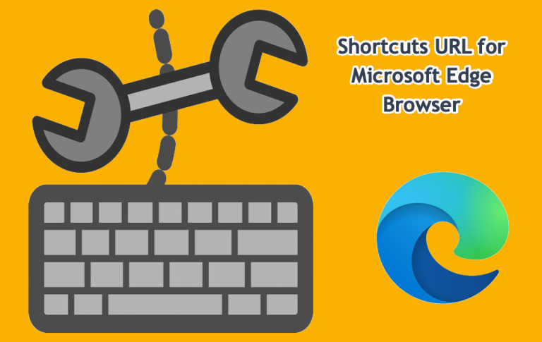 URL-адрес ярлыков для страниц настроек Microsoft Edge