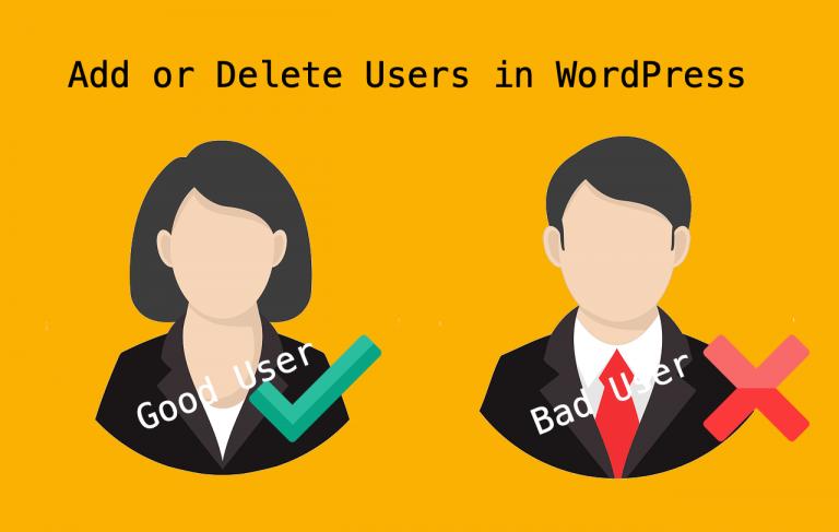 Как добавлять и удалять пользователей в WordPress?
