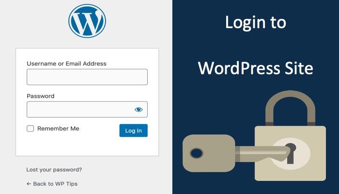 Как войти на сайт WordPress?